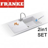 Franke Basis BFG 611-970 Fragranite sink & Athena Chrome tap