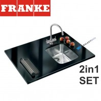 Ariane ARX 110 35 Stainless Steel sink & Athena Chrome tap