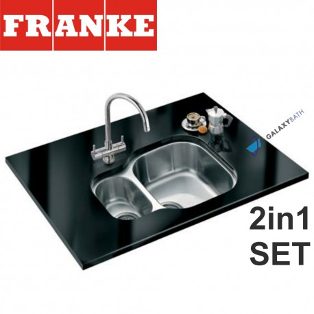 Compact CPX 160P Stainless Steel sink & Athena Chrome tap