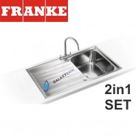 Franke Argos AGX 611-100 Stainless Steel sink & Athena Chrome tap