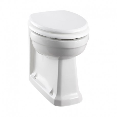 Burlington Back To Wall Pan With Soft Close Seat Carbamide White Gloss