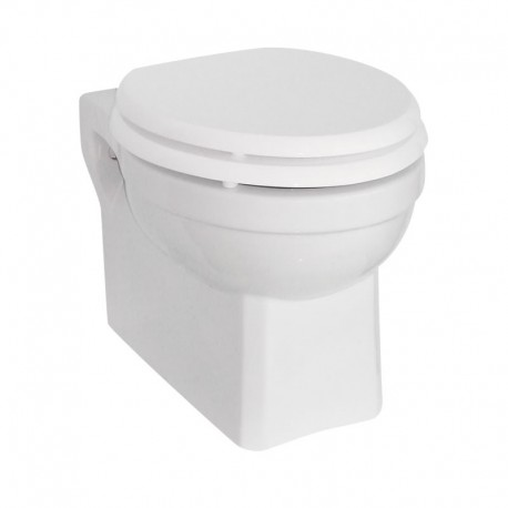 Burlington Wall Hung Toilet With Soft Close Seat Carbamide White Gloss