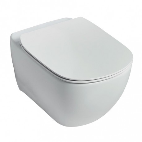 Ideal Standard Tesi Wall Mounted Wc Suite With Aquablade Technology And Soft Close Seat