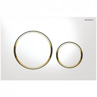 Geberit Flush Plate Sigma20 For Dual Flush White / Gold-plated / White
