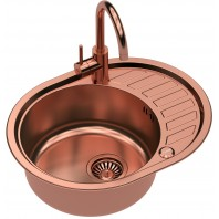 Quadron Clint 211 SteelQ Kitchen Sink With Naomi Mixer Tap 2in1 Set Copper Finish