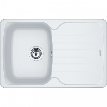 Franke Antea AZG 611-78 1.0 Bowl Fragranite Inset Sink Polar White