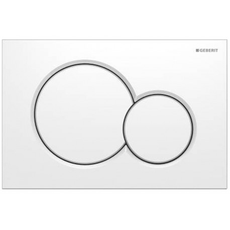GEBERIT SIGMA01 FLUSH PLATE WHITE UP320